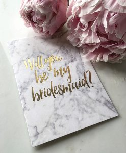 Marble Bridesmaid Card