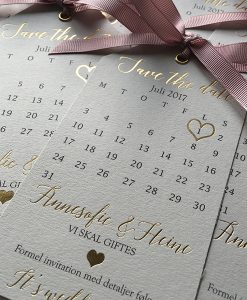 Pale Grey and Gold Save the Date tags