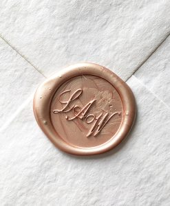Three initials wax seal stamp