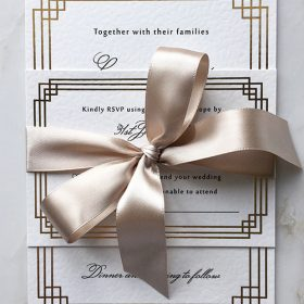 Art Deco A6 Invitations