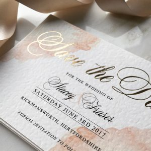 Blush Watercolour Save the Dates