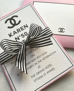 Chanel Party Invitations