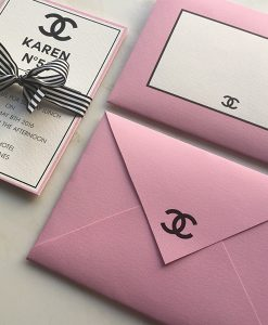 Chanel Pink and White Envelopes