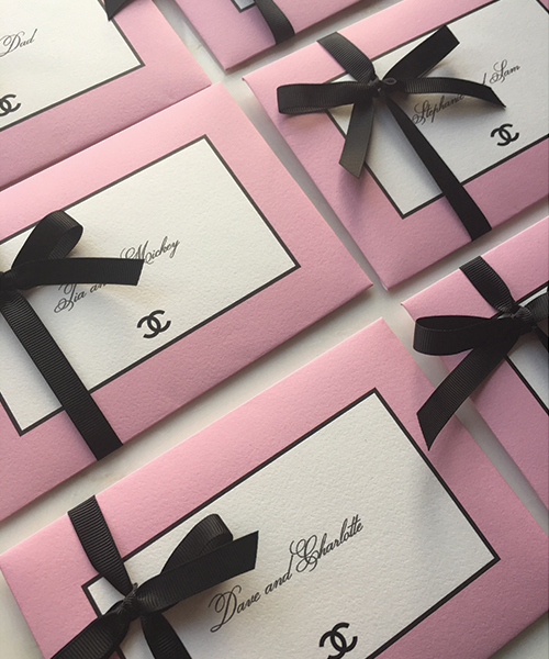 Chanel Invitation Envelopes