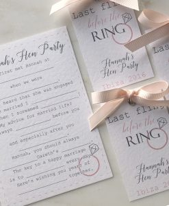 Hen Party Stationery Set