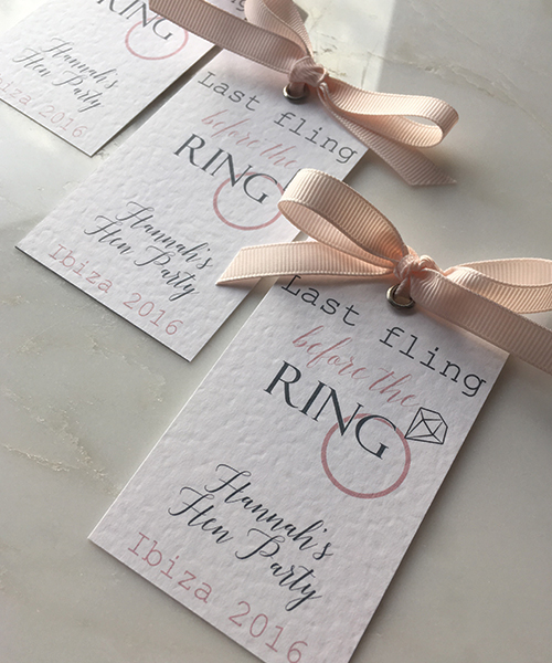 Hen Party Tags