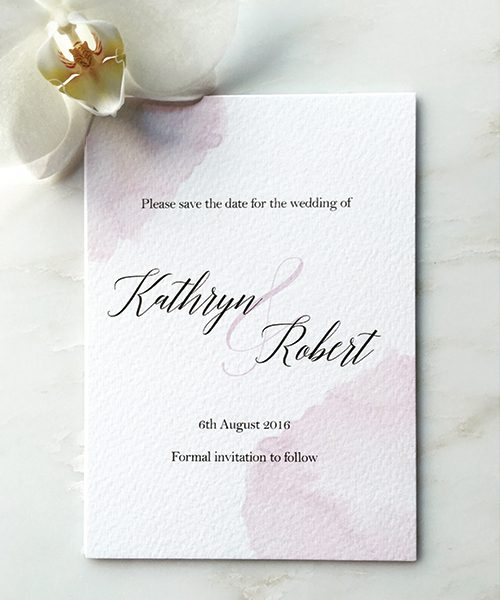 Lilac Watercolour Save the Dates
