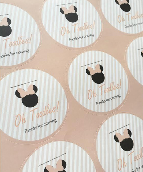 Minnie Mouse Party Stickers