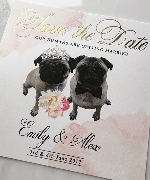 Our-Humans-are-getting-married-pug-save-the-dates