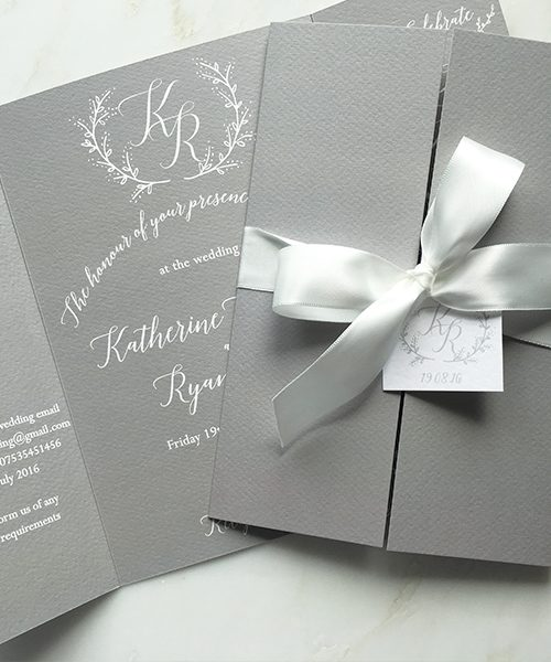 Pale-Grey-and-White-Bow-Gatefold-Invitations