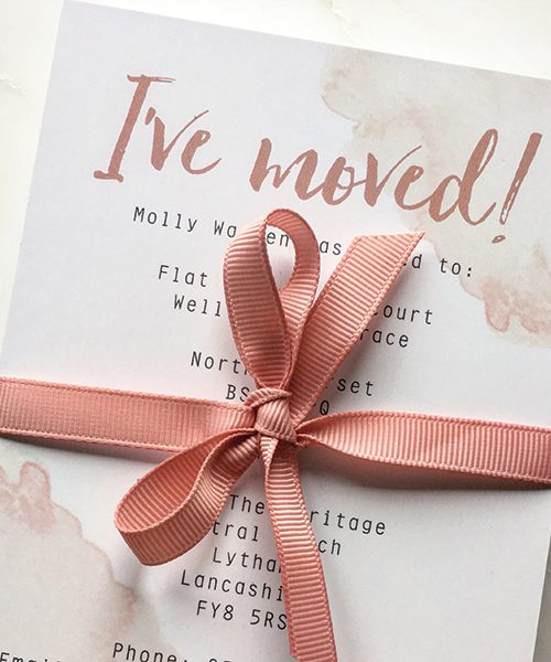 Pink-Watercolour-We've-Moved-Cards-Close-Up