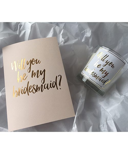 Will you be my bridesmaid candles