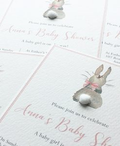 Bunny Baby Shower Christening Birthday Party invitations